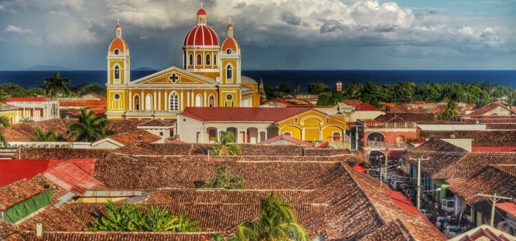 colonial buildings and rooftops in nicaragua