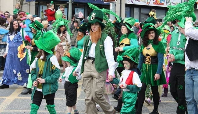 St Patrick's Day parade in Dublin, Ireland
