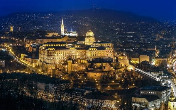 Budapest at night. Best countries for digital nomads