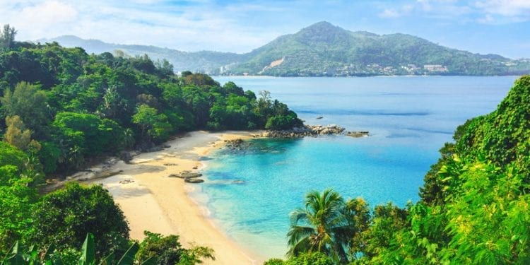 Secluded beach in Phuket Thailand